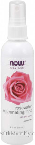 Now® Solutions, Rosewater Rejuvenating Mist