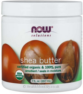 Now® Solutions, Shea Butter, Certified Organic & 100% Pure