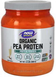 Now® Sports, Organic Pea Protein Powder