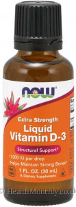 Now® Vitamin D-3 Liquid, Extra Strength