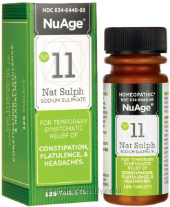 Hyland's NuAge #11 Natrum Sulph, Sodium Sulphate