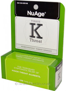 Hyland's NuAge Tissue K, Throat