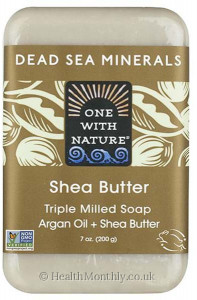 One with Nature Dead Sea Minerals Argan Oil + Shea Butter Soap Bar