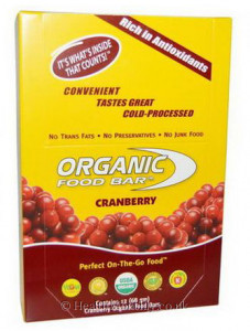 Organic Food Bar Of Cranberry