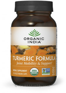 Organic India Turmeric Formula, Joint Mobility & Support