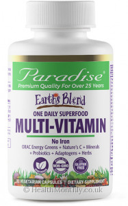 Paradise® Earth's Blend® Superfood Multivitamin No Iron