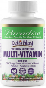 Paradise® Earth's Blend® Superfood Multivitamin with Iron