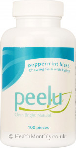 Peelu Peppermint Blast Chewing Gum with Xylitol