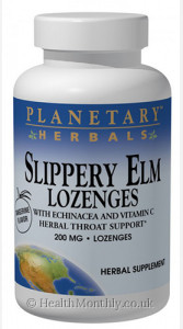 Planetary Herbals Slippery Elm Lozenges with Echinacea