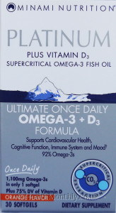 Minami Nutrition Platinum Ultimate Once Daily Omega 3 +D3 Formula