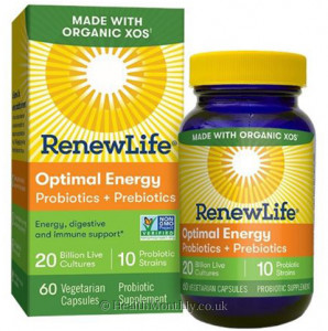 RenewLife Optimal Energy Probiotics + Prebiotics