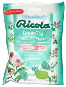 Ricola GreenTea with Echinacea Cough Suppressant & Throat Drops
