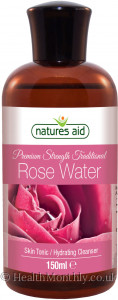 Natures Aid Premium Strength Rose Water