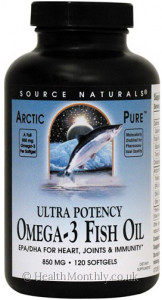 Source Naturals Arctic Pure Ultra Potency Omega 3 Fish Oil