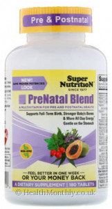 Super Nutrition Prenatal Blend Multivitamin