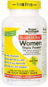 Super Nutrition Simply One Women Triple Power