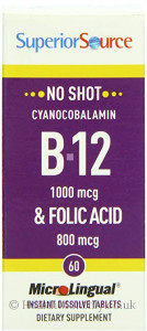 Superior Source No Shot Cyanocobalamin B12 & Folic Acid