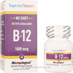Superior Source No Shot Methylcobalamin B12 1000 mcg