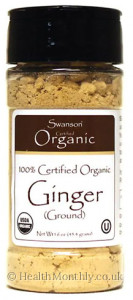 Swanson 100% Certified Organic Ground Ginger