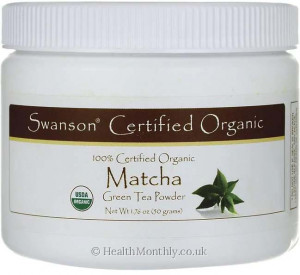 Swanson 100% Certified Organic Matcha Green Tea Powder