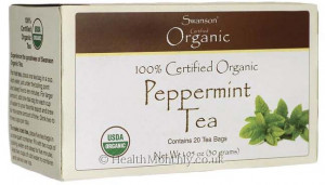 Swanson 100% Certified Organic Peppermint Tea