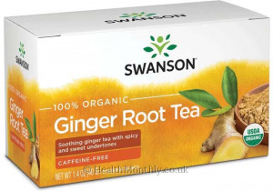 Swanson 100% Organic Ginger Root Tea