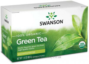 Swanson 100% Organic Green Tea