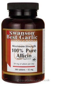 Swanson Best Garlic Maximum-Strength 100% Pure Allicin