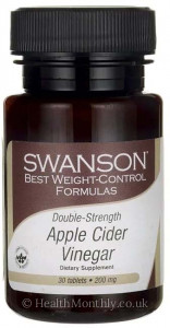 Swanson Best Weight-Control Formulas, Double-Strength Apple Cider Vinegar