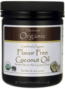 Swanson Certified Organic Flavor Free Coconut Oil