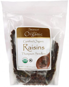 Swanson Certified Organic Raisins, Thompson Seedless
