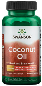 Swanson Coconut Oil Made with Certified Organic Coconut Oil