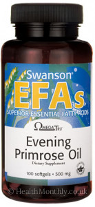 Swanson EFAs OmegaTru® Evening Primrose Oil