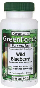 Swanson Wild Blueberry Made with Whole Wildcrafted Berries