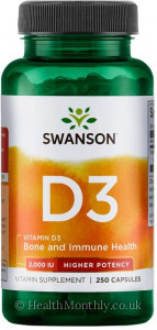 Swanson Vitamin D3, High Potency