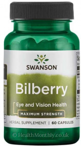 Swanson Maximum Strength Bilberry