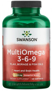 Swanson MultiOmega 3-6-9 (Flax, Borage & Fish Oils)