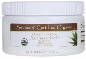 Swanson Aloe Vera Powder, Certified Organic, Freeze Dried
