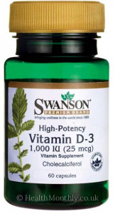 Swanson High-Potency Vitamin D-3, Cholecalciferol