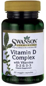 Swanson Vitamin D Complex with Vitamins D-2 & D-3