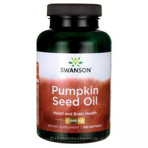Swanson Pumpkin Seed Oil (1,000mg, 100 Softgels)