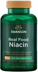 Swanson Real Food Niacin from Real Holy Basil Extract