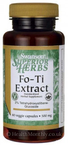 Swanson Fo-Ti Extract, 2% Tetrahydroxystilbene-Glucoside