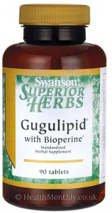 Swanson Gugulipid® with Bioperine®