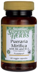 Swanson Pueraria Mirifica with B6 & B12