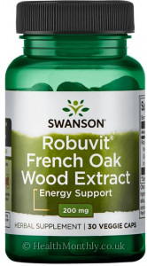 Swanson Robuvit® French Oak Wood Extract