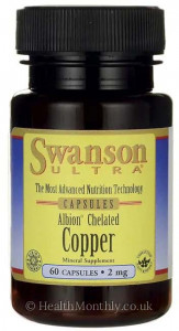 Swanson Ultra Albion® Chelated Copper