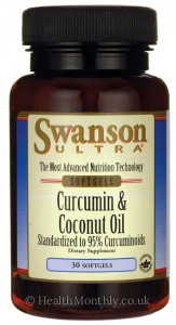 Swanson Ultra Curcumin & Coconut Oil, Standardised to 95% Curcuminoids