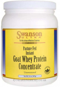 Swanson Ultra Pasture Fed Instant Goat Whey Protein Concentrate