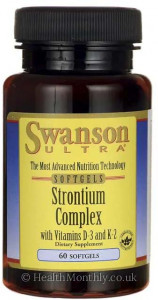 Swanson Ultra Strontium Complex with Vitamins D-3 & K-2